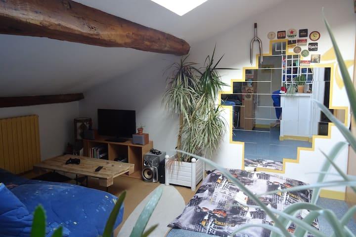 Studio meublé centre-ville - Saintes - Apartemen
