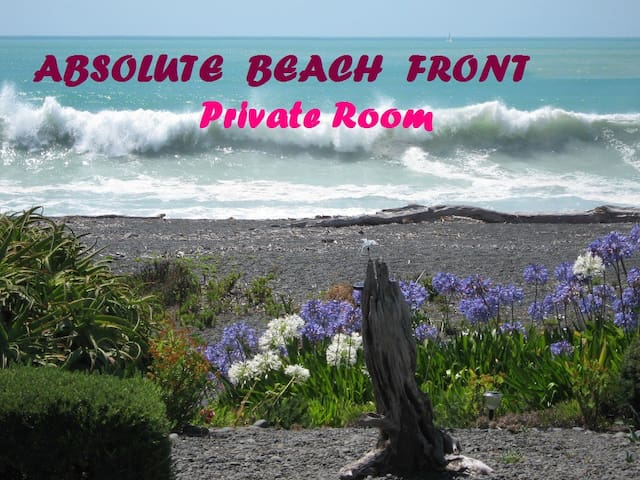Absolute Beach Front Private Room - Napier