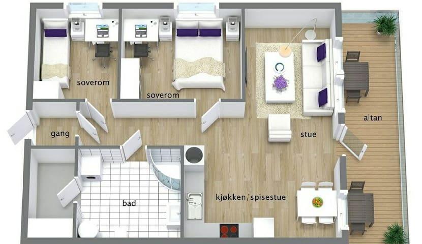 Beautiful apartment with good view - Askøy - Huoneisto