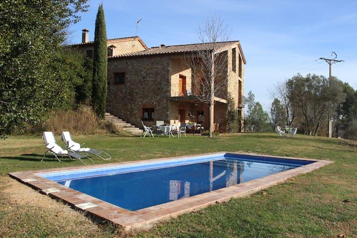 Wonderful views and great gardens. Habitacion Olga - Crespià - Bed & Breakfast