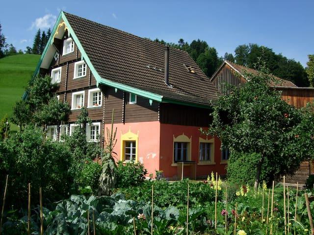 BnB Zimmer im sonnigen Toggenburg - Mosnang - Oda + Kahvaltı