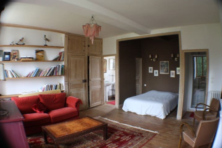 Suite 2 à 4 pers 30m2 Biblioteque - Champcerie - Bed & Breakfast