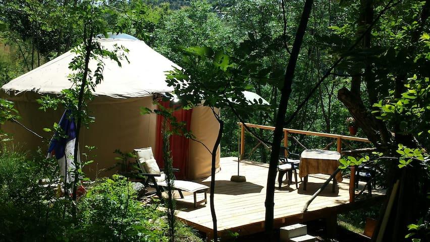 Yourte sous les châtaigniers d'Ardèche - Désaignes - Yurt