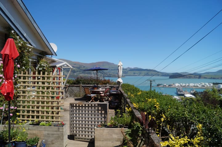 Sunny appartment with kitchen,patio and views - Lyttelton