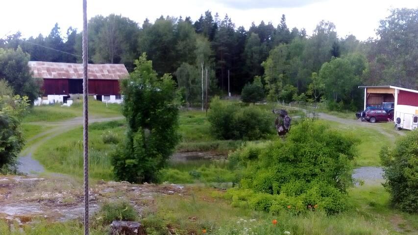 Room at the Vaxtuna farm close to a small lake - Norrtälje S - Hus