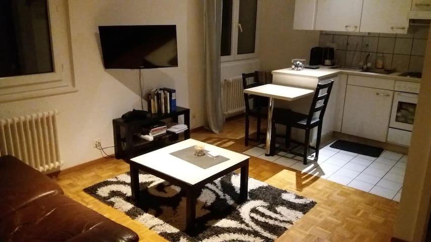 Appartement lit double avec chambre et cuisine - Préverenges - Daire
