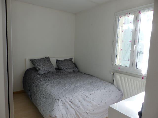 Chambre avec salle de bain privative,jardin - Saint-Martin-la-Plaine - Casa