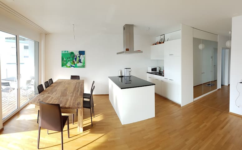 modern, central and sunny 3.5 rooms for up to 6pp - Давос - Квартира