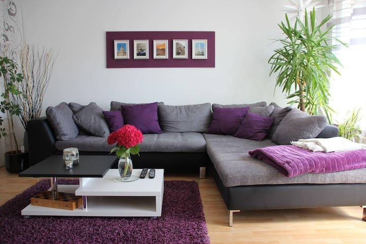 Cozy apartment near Stuttgart Airp. - Neuhausen auf den Fildern - Hus