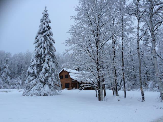 THE CABIN....a Vermont log home - Mendon - Casa