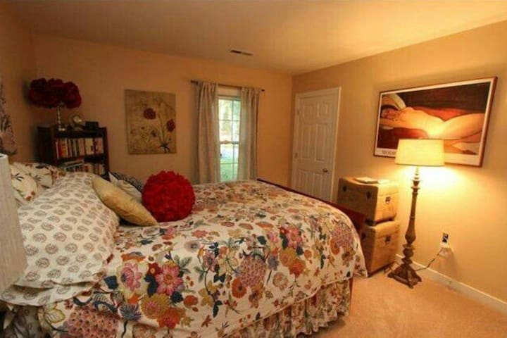 Cozy & warm Queen size bed in an artsy RVA home - Chesterfield - Appartement