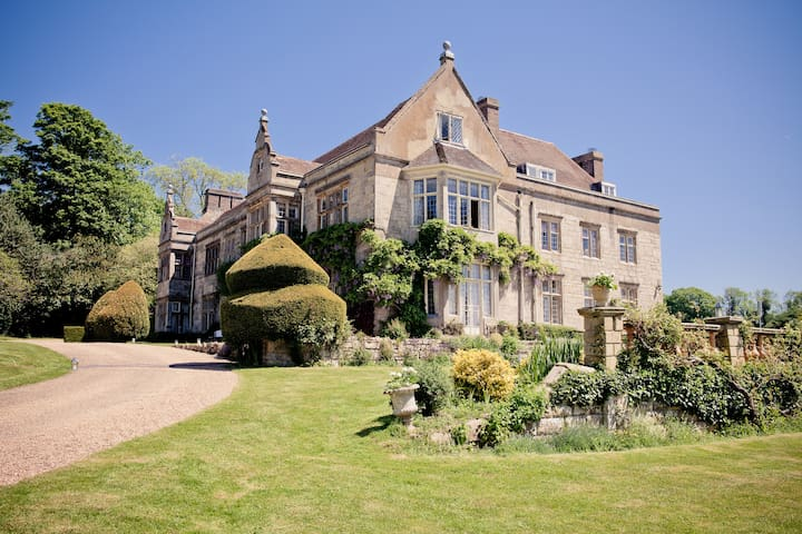 Haremere Hall, a country house just outside London - East Sussex