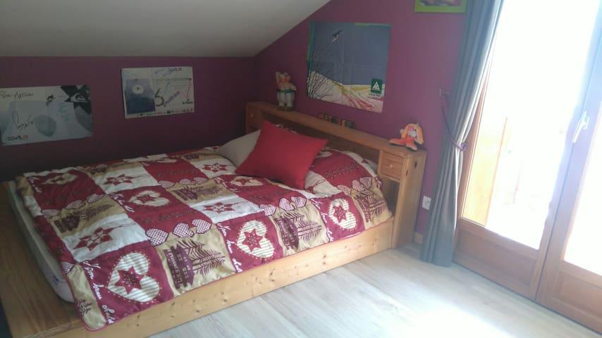 Chambre simple et accueillante - Verchaix - Huis