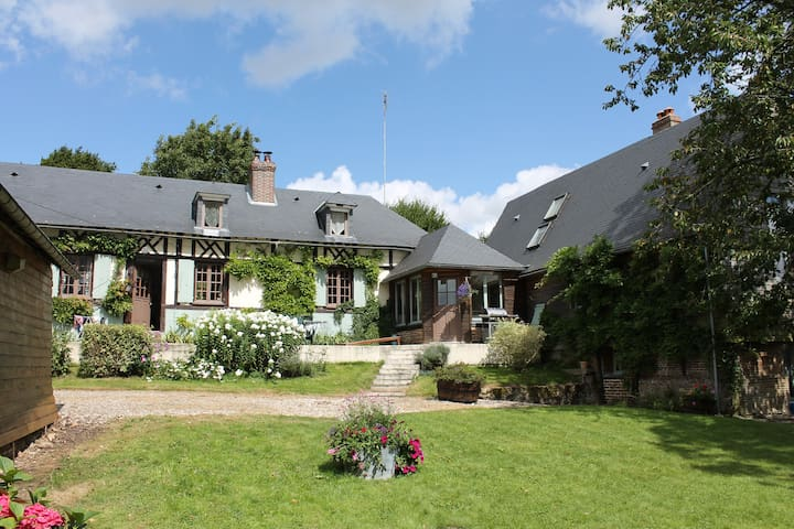 Authentique maison normande - Haudricourt - Oda + Kahvaltı