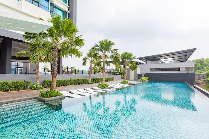 Infinity Pool Homestay @ Kajang City Center - Kajang - Lägenhet