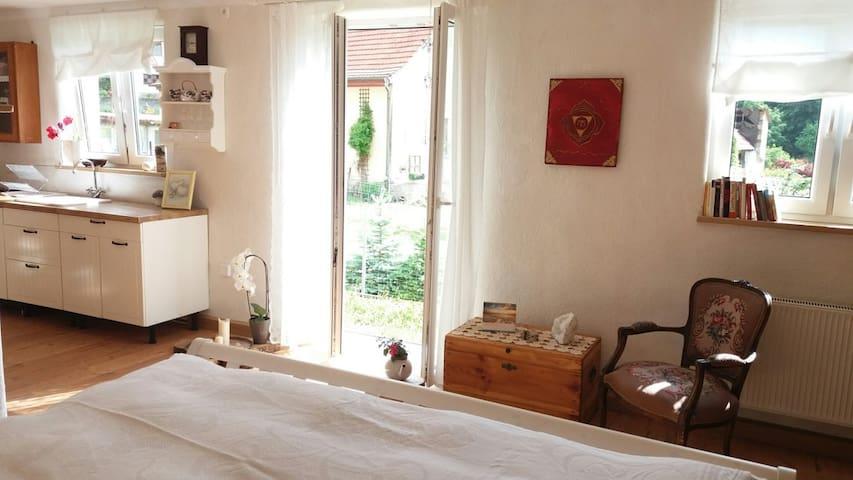Schönes 1 Zimmer - Apartment mit Terrasse - Burgpreppach - Appartement