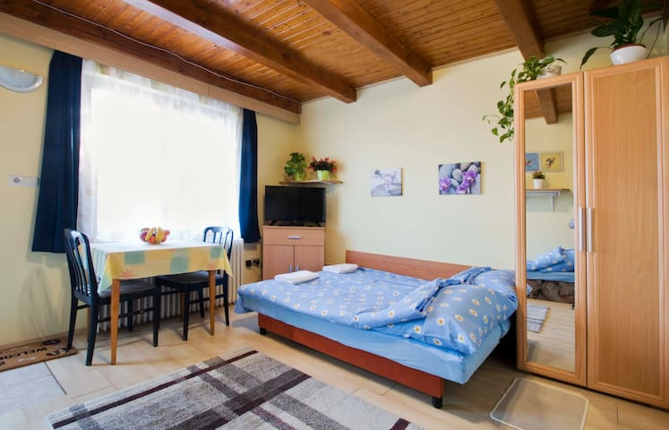 Cozy apartment with garden 25min from the center - Budapeşte