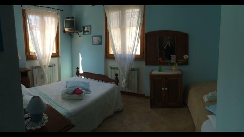 """Taverna del nonno """"camera blu"""" - Vallepiana - Casa"""