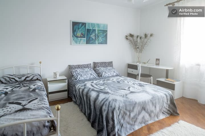 Large room with three beds - San Martino di Lupari - Bed & Breakfast