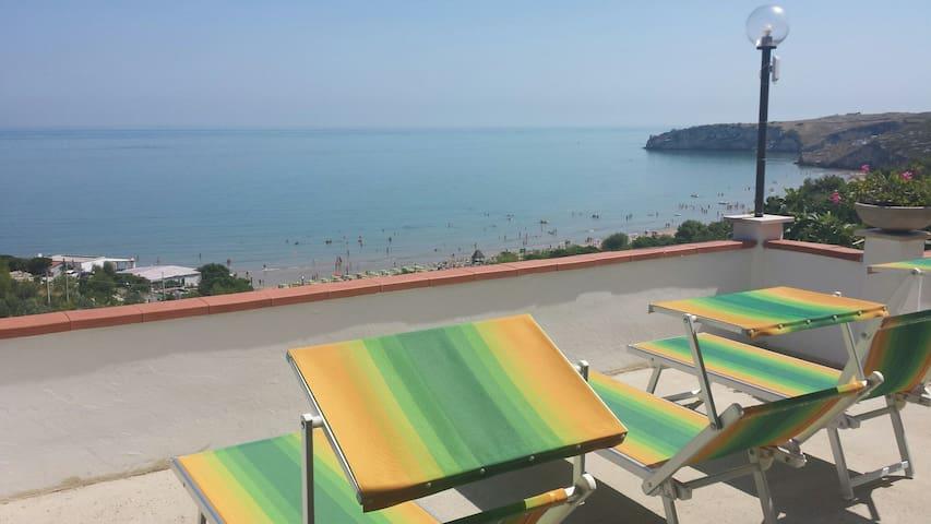 Bilocale vista mare case vacanze baia del gargano - Peschici - Leilighet
