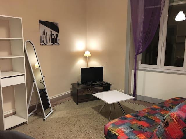 Studio meublé, proche centre ville - Montmorot - Appartement