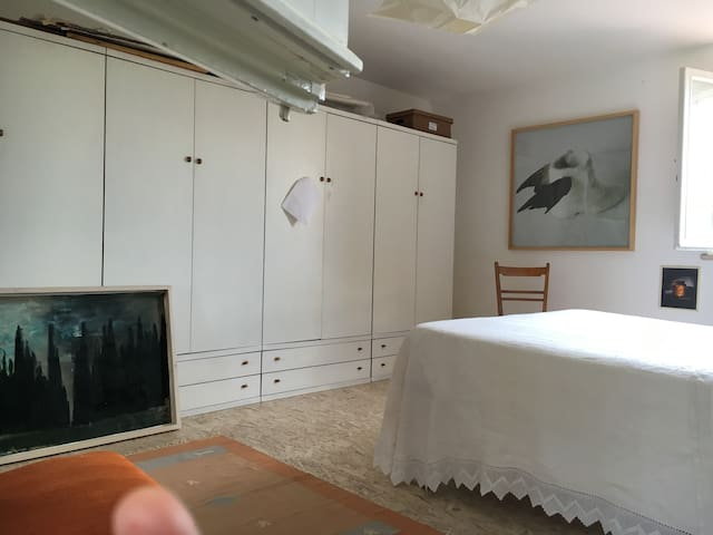 Camera matrimoniale privata in loft - Monteriggioni - Çatı Katı