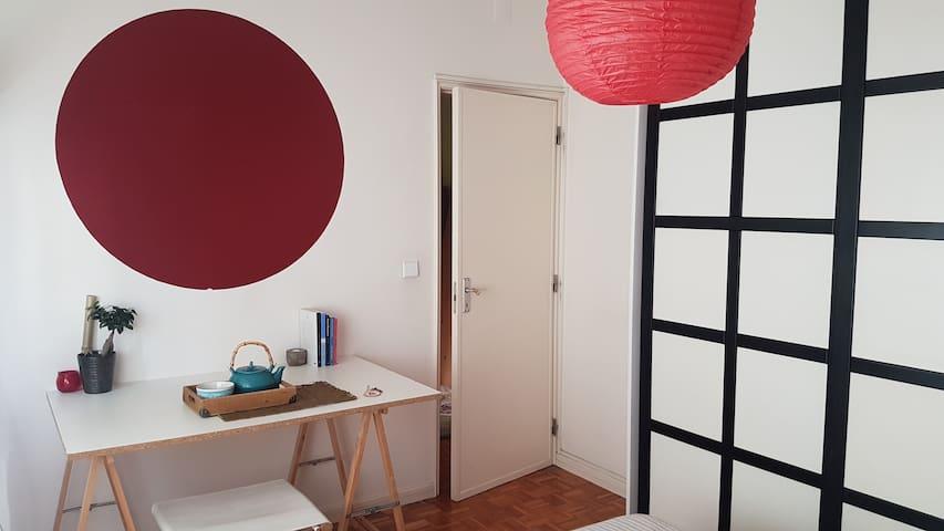 Quarto em apartamento descontraído no centro - Leiria - Leilighet