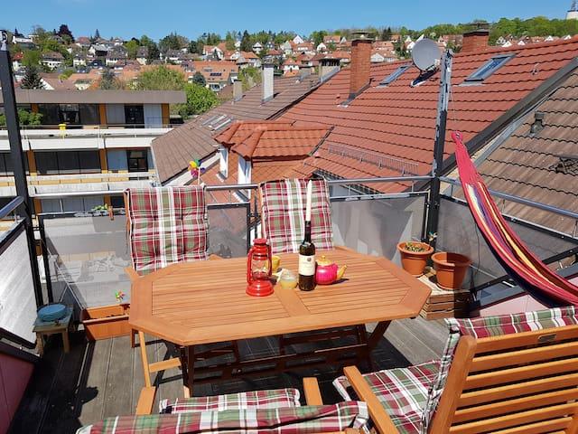 Gemütliches Zimmer mit Dachterrasse - Pforzheim - Appartement