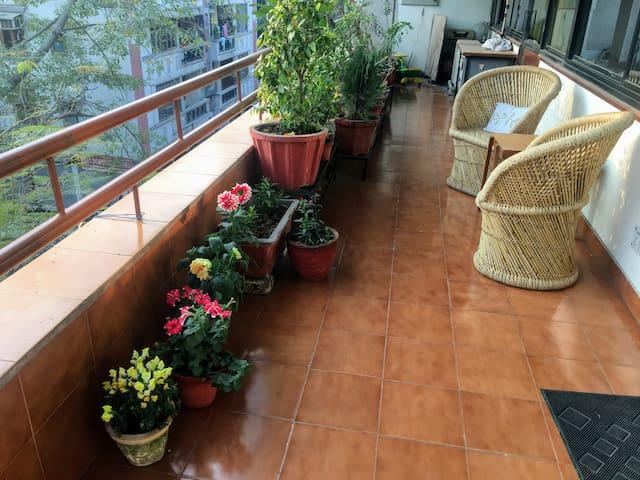 Sunny, Airy, Huge Pvt Room & Balcony in Lajpat Ngr - Nova Délhi - Casa