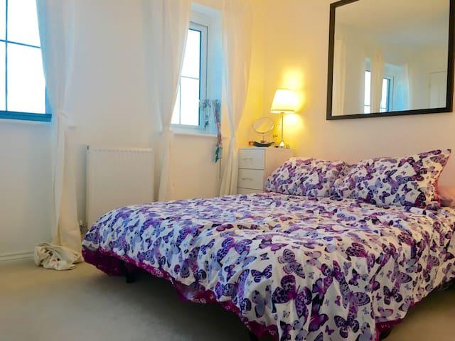 Bright double room in Northampton - Northampton - Hus
