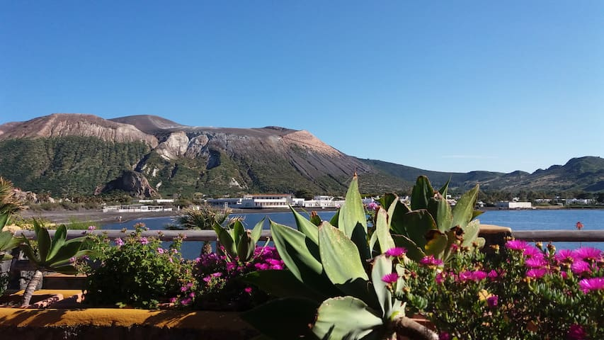 Seaview apartment in Residence on Vulcano Island - Vulcano Porto - Huoneisto