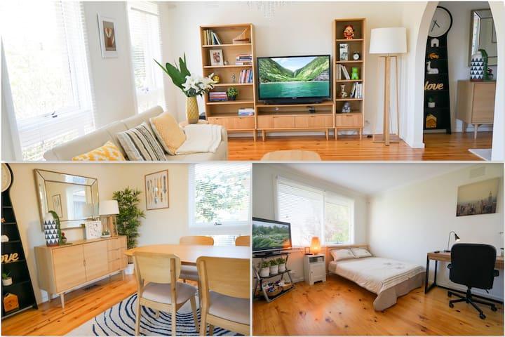Spacious Bedroom with TV & Study Desk - Glen Waverley - Rumah