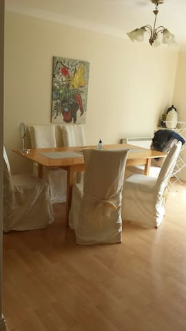 Dbl bedroom with ensuite, and TV. - Dublin - Apartemen