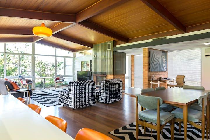 Cool Retro Modernist Detached Home -near City & UQ - Saint Lucia - Casa