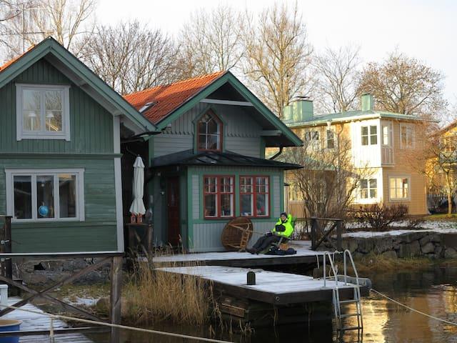 Bo på en brygga mitt i Vaxholm - Vaxholm - Huis