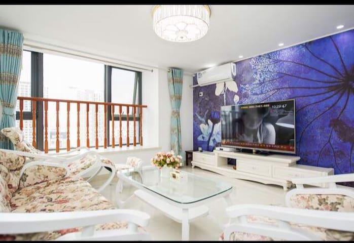 地铁一号线+木渎古镇+苏州乐园+适住4人+整租精装公寓 - Suzhou - Apartmen