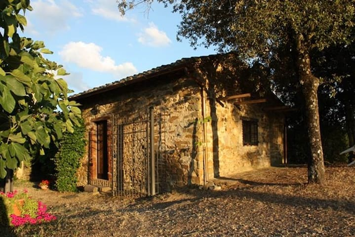 Kleines Zauberhäuschen auf Chiantihügel bei Siena - Pievasciata