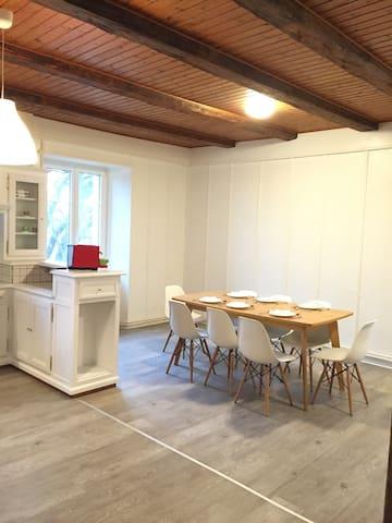Newly refreshed 6 room's flat in an old farm - Chézard-Saint-Martin - Apartamento