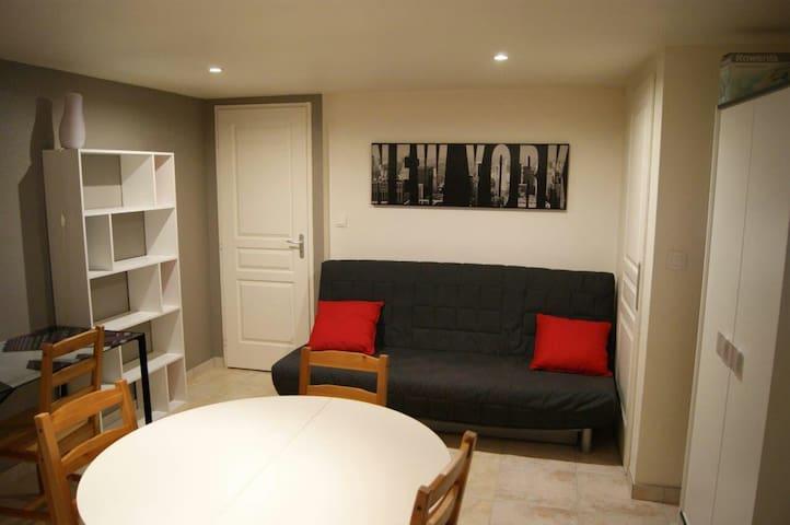 Charmant studio 10 min de Besançon - Pirey - Apartamento