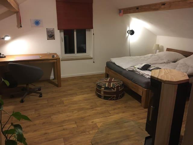 Dachwohnung mit Kaminofen im Allgäu - Kempten (Allgäu) - Apartment