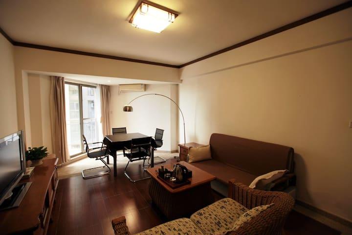 三亚湾海月广场附近90°双阳台家庭娱乐海景套房 - Sanya