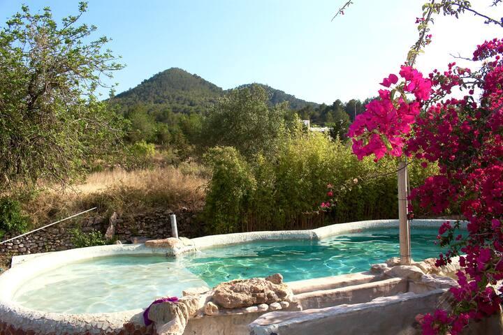 The Private Terrace Room in Idyllic Villa - Cala de Sant Vicent - Vila