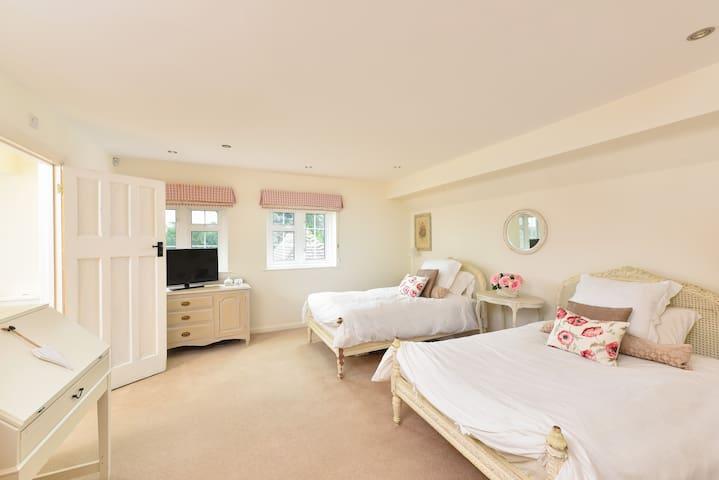 Large twin room ,ensuite, wifi & TV - Cobham - Ev