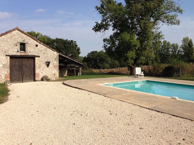 Rural Gite with Pool - Saint-Aubin - 平房