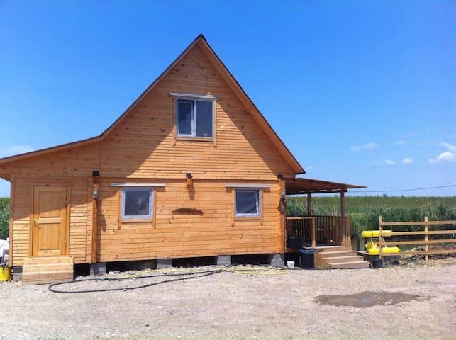 Уютный домик из бруса на берегу рыбацкого пруда! - Lvovskoye - Huis