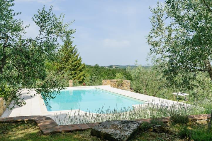 Campagna  Toscana Rustico e Piscina - Cavi-casalone - Appartement
