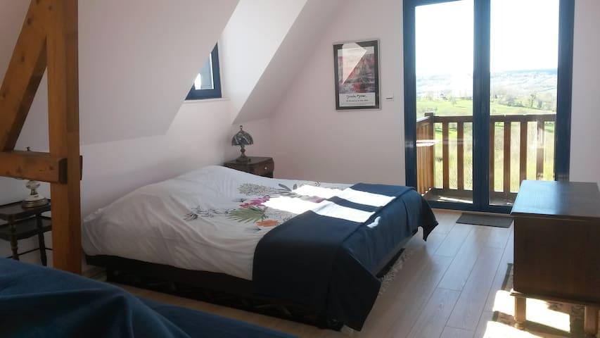 Chambre avec Vue sur la Vallée - Les Authieux-sur-Calonne - Ev