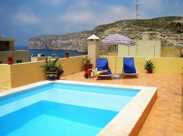 11. Villa apartment one Bedroom w/ Pool - Xlendi - Appartement