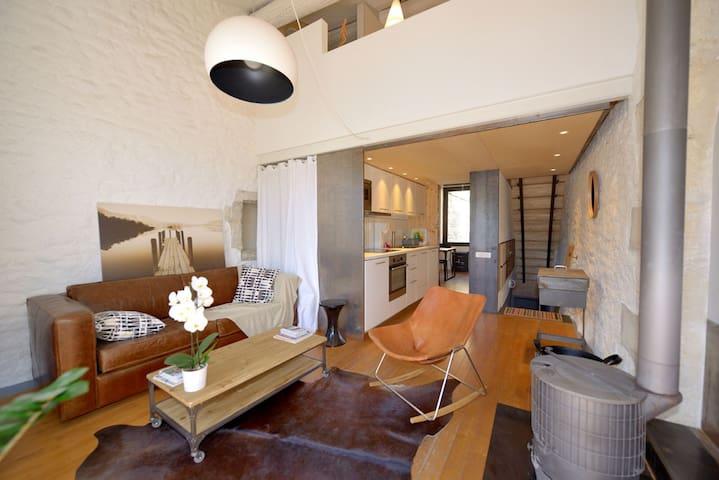 fred's loft (benoit gillet architecte) - terrasse - Calvisson - Apartemen