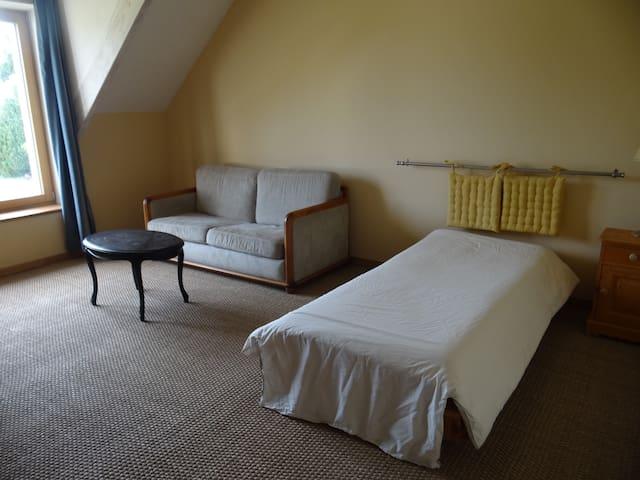 Chambre 20 m2 dans maison écologique passive - Mézières-lez-Cléry - Casa cueva